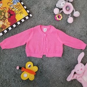 2 for $15 🐞 Baby gap pink cardigan